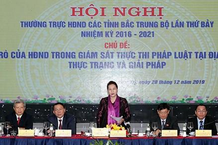 Chủ tịch Quốc hội Nguyễn Thị Kim Ngân dự Hội nghị Thường trực Hội đồng Nhân dân các tỉnh Bắc Trung Bộ lần thứ 7