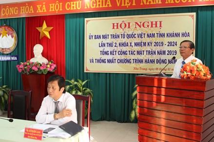 Khánh Hòa tổng kết công tác Mặt trận năm 2019