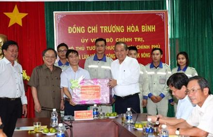 Phó Thủ tướng Thường trực thăm 2 nhà máy lớn tại Đắk Nông