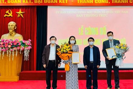 UBTƯ MTTQ Việt Nam bổ nhiệm hai Phó Trưởng ban Tổ chức - Cán bộ