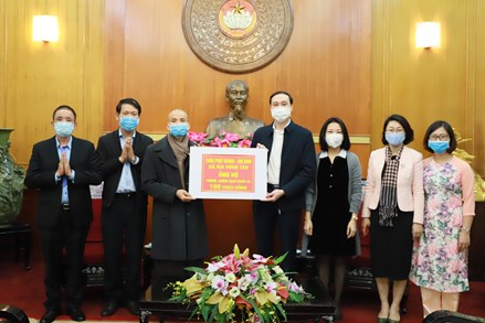 Trên 900 tỷ đồng ủng hộ và đăng ký ủng hộ gửi đến UBTƯ MTTQ Việt Nam