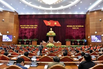 Bế mạc Hội nghị lần thứ 12 Ban Chấp hành Trung ương Đảng khóa XII