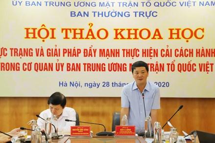 Đẩy mạnh thực hiện cải cách hành chính trong cơ quan UBTƯ MTTQ Việt Nam