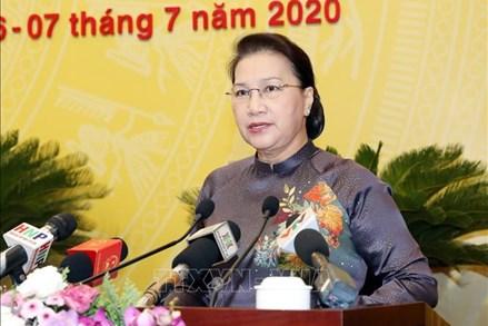 Chủ tịch Quốc hội Nguyễn Thị Kim Ngân dự khai mạc Kỳ họp thứ 15, Hội đồng nhân dân thành phố Hà Nội