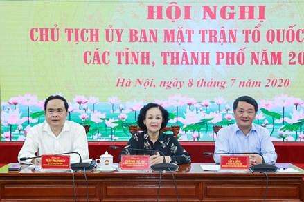 Khai mạc Hội nghị Chủ tịch Uỷ ban MTTQ Việt Nam các tỉnh, thành phố năm 2020