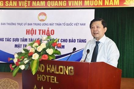 Mở ra hướng đi mới trong công tác sưu tầm Bảo tàng MTTQ Việt Nam