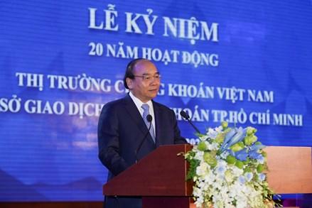 Thủ tướng: Đưa thị trường chứng khoán Việt Nam sớm lên thành thị trường mới nổi