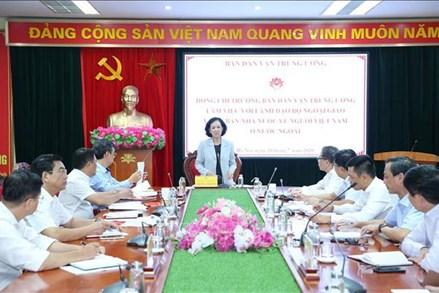 Tăng cường công tác dân vận với cộng đồng người Việt Nam ở nước ngoài