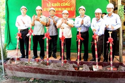 Cần Thơ: Khởi công xây dựng 90 căn nhà Đại đoàn kết