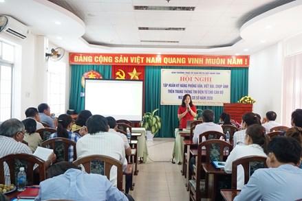 Khánh Hòa: Hơn 100 cán bộ Mặt trận cơ sở tham gia tập huấn kỹ năng phỏng vấn, viết bài