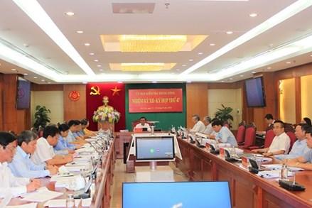 Ủy ban Kiểm tra Trung ương thi hành kỷ luật một số tổ chức đảng, đảng viên