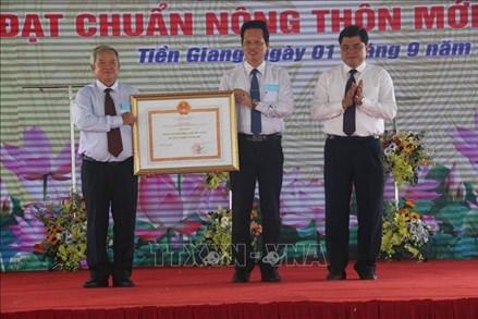 Công bố huyện đầu tiên đạt chuẩn nông thôn mới tại Tiền Giang