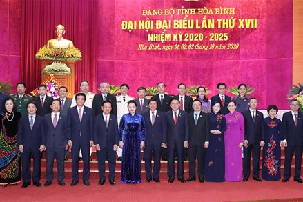 Chủ tịch Quốc hội Nguyễn Thị Kim Ngân dự Đại hội đại biểu Đảng bộ tỉnh Hòa Bình lần thứ XVII, nhiệm kỳ 2020 - 2025