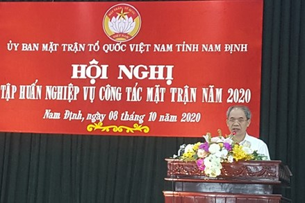 Nam Định: Tập huấn cho cán bộ Mặt trận toàn tỉnh