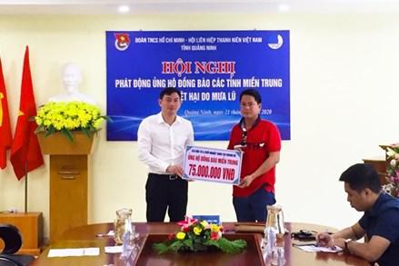 Thanh niên Quảng Ninh phát động ủng hộ đồng bào miền Trung
