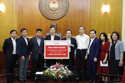 Thông tin tiếp nhận ủng hộ đồng bào miền Trung
