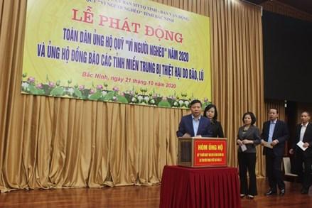 Bắc Ninh: Hỗ trợ 5 tỷ đồng giúp các tỉnh miền Trung