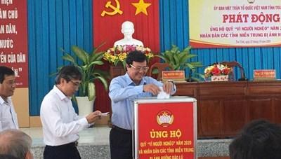 Trà Vinh: Vận động ủng hộ đồng bào miền Trung được gần 2 tỷ đồng