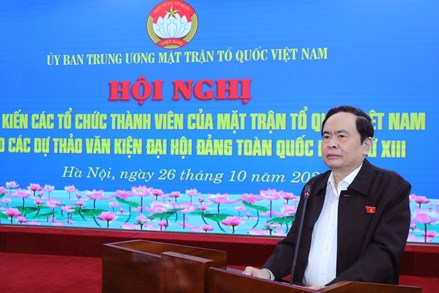 Ý kiến của các Tổ chức Thành viên vào các dự thảo văn kiện Đại hội Đảng toàn quốc lần thứ XIII