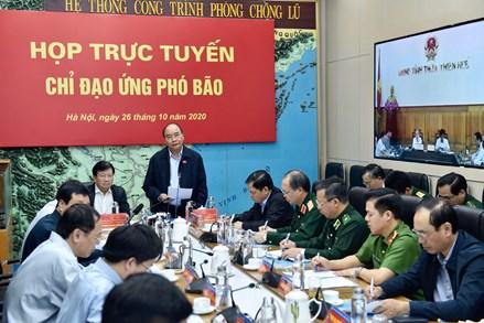 Ứng phó với cơn bão số 9-Molave: Thủ tướng Nguyễn Xuân Phúc: Cứu người, cứu dân là quan trọng nhất