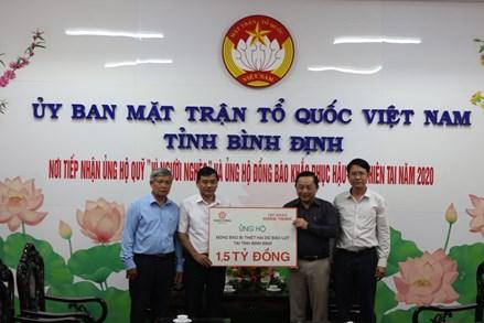Bình Định: Hơn 1,7 tỷ đồng ủng hộ người dân khắc phục hậu quả mưa lũ
