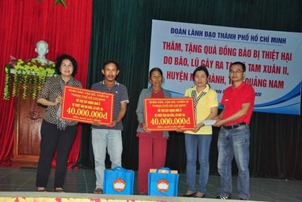 Mặt trận TP Hồ Chí Minh hỗ trợ người dân Quảng Nam, Quảng Ngãi