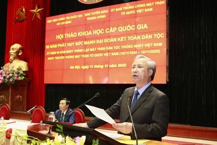 MTTQ Việt Nam tiếp tục khơi dậy khát vọng phát triển đất nước