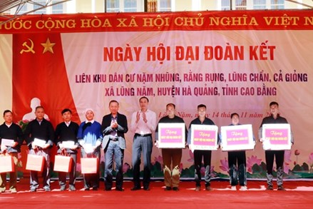 """Bộ trưởng Tô Lâm dự """"Ngày hội Đại đoàn kết toàn dân tộc"""" tại Cao Bằng"""