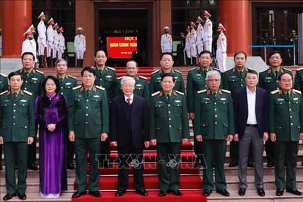 Tổng Bí thư, Chủ tịch nước Nguyễn Phú Trọng dự và chỉ đạo Hội nghị Quân chính toàn quân năm 2020
