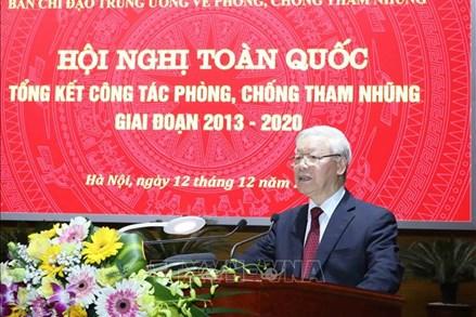 Toàn văn bài phát biểu của Tổng Bí thư, Chủ tịch nước tại Hội nghị trực tuyến toàn quốc, tổng kết công tác phòng, chống tham nhũng giai đoạn 2013-2020