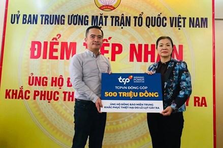 MTTQ Việt Nam tiếp nhận 500 triệu đồng ủng hộ đồng bào miền Trung