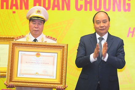 Chủ tịch Trần Thanh Mẫn dự Lễ kỷ niệm 75 năm Ngày truyền thống lực lượng Tình báo Công an nhân dân