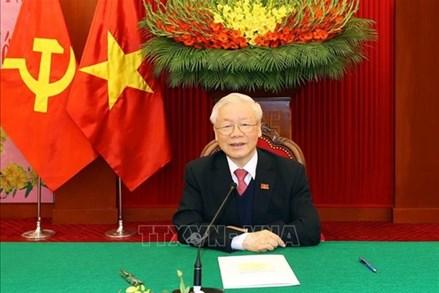 Tổng Bí thư, Chủ tịch nước Nguyễn Phú Trọng điện đàm với Tổng Bí thư, Thủ tướng Lào Thongloun Sisoulith