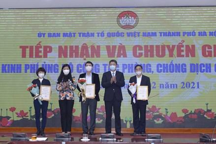 Ủy ban MTTQ thành phố Hà Nội: Tiếp nhận gần 3 tỷ đồng ủng hộ phòng dịch Covid - 19