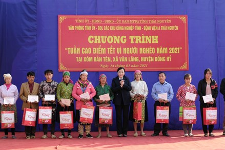 Thái Nguyên: Hơn 30,5 tỷ đồng trong 'Tuần cao điểm Tết vì người nghèo năm 2021'