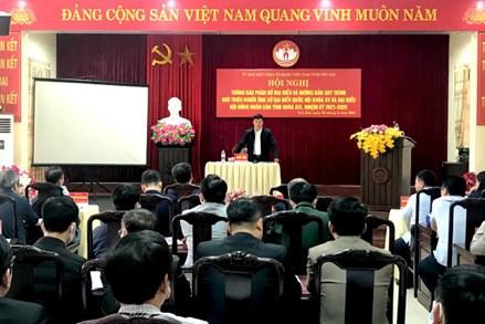 Yên Bái: Giới thiệu 7 ứng cử viên Đại biểu QH và 56 đại biểu HĐND cấp tỉnh