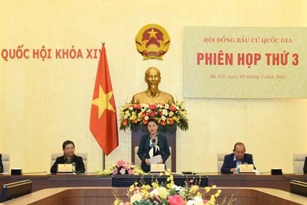 Chủ tịch UBTƯ MTTQ Việt Nam Trần Thanh Mẫn dự phiên họp thứ 3 của Hội đồng Bầu cử quốc gia