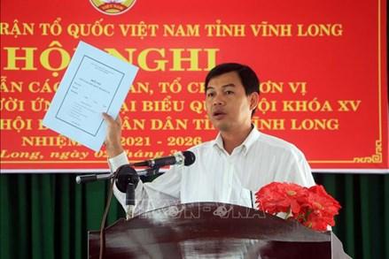 Vĩnh Long triển khai công tác giới thiệu người ứng cử