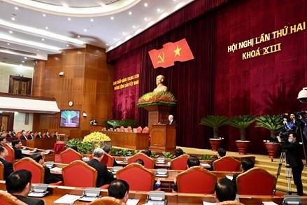Bế mạc Hội nghị Trung ương 2: Nhân sự giới thiệu ứng cử chức danh lãnh đạo chủ chốt Nhà nước có số phiếu tập trung cao