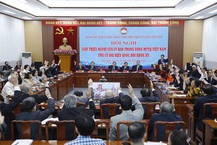 Giới thiệu 4 người của UBTƯ MTTQ Việt Nam ứng cử ĐBQH khóa XV