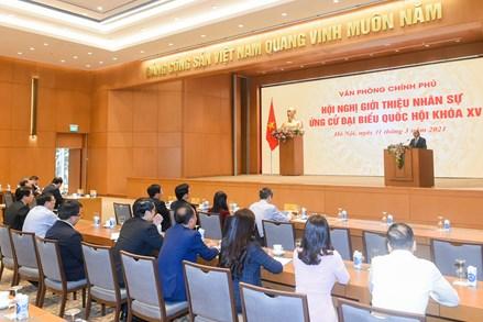 Văn phòng Chính phủ giới thiệu 2 ứng cử viên ĐBQH