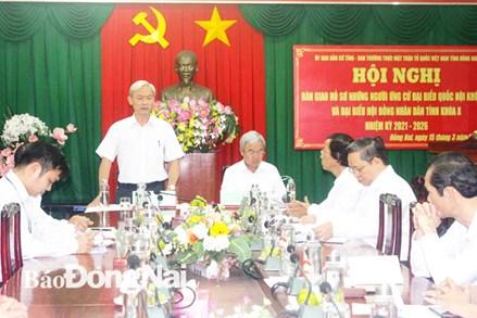 Đồng Nai bàn giao hồ sơ những người ứng cử đại biểu Quốc hội và HĐND