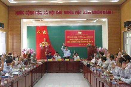 Ủy ban MTTQ tỉnh Quảng Ngãi tổ chức Hội nghị hiệp thương lần 2: Thống nhất 11 ứng cử viên ĐBQH khóa XV