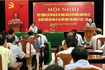 Quảng Bình: 10 người ứng cử đại biểu Quốc hội khoá XV và 89 người ứng cử đại biểu HĐND tỉnh