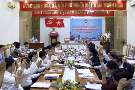 Phú Thọ: thông qua danh sách 12 ứng cử viên đại biểu Quốc hội khóa XV