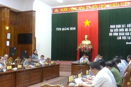 Quảng Bình: Tăng cường công tác kiểm tra, tránh xảy ra sai sót trong ngày bầu cử