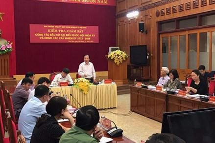 UBTƯ MTTQ Việt Nam kiểm tra, giám sát bầu cử tại Yên Bái