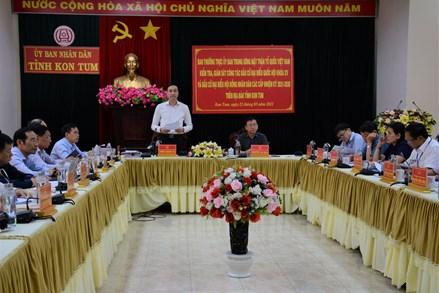Phó Chủ tịch Phùng Khánh Tài kiểm tra công tác chuẩn bị bầu cử tại tỉnh Kon Tum