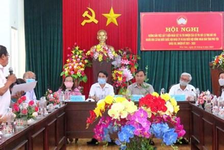 Phú Yên: Mặt trận hướng dẫn lấy ý kiến cử tri đối với người ứng cử