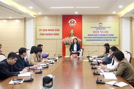 Quảng Ninh: Hướng dẫn lấy ý kiến cử tri nơi cư trú đối với người ứng cử